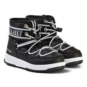 Image of Moon Boot Snow Moon Boots Black and Silver Snow boots