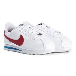Image of NIKE White and Red Cortez Junior Sneakers Lasten kengt 35.5 (UK 3)
