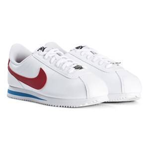 Image of NIKE White and Red Cortez Junior Sneakers Lasten kengt 39.5 (UK 6.5)