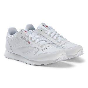 Reebok White Classic Leather Sneakers Lasten kengt 24 (UK 7)