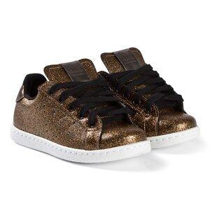 Victoria Metal Zipper Sneakers Bronze Lasten kengt 34 EU