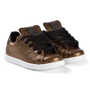 Victoria Metal Zipper Sneakers Bronze Lasten kengt 32 EU