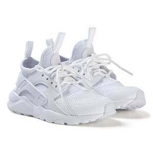 Image of NIKE White Huarache Run Ultra Kids Shoes Lasten kengt 34 (UK 2)