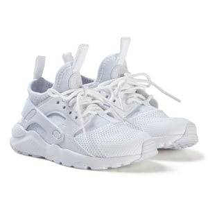 Image of NIKE White Huarache Run Ultra Kids Shoes Lasten kengt 33 (UK 1)