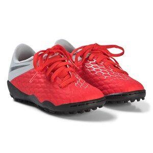 NIKE Red Hypervenom 3 Academy Turf Soccer Shoes Lasten kengt 38 (UK 5)