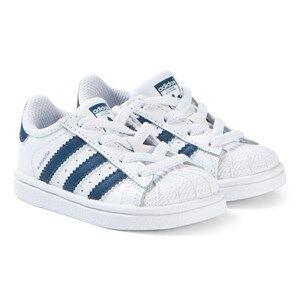 adidas Originals Superstar Velcro Sneakers White and Navy Lasten kengt 21 (UK 5)