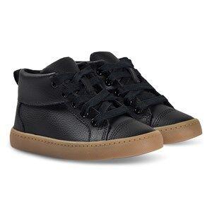 Clarks City Oasis Hi Sneakers Black Leather Lasten kengt 33.5 (UK 1.5)