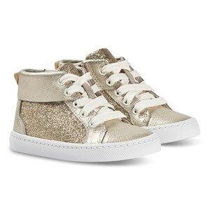 Clarks City Oasis Hi Sneakers Gold Sparkle Lasten kengt 27.5 (UK 9.5)
