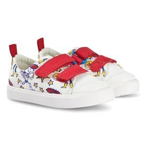Clarks Toy Story City Team Sneakers White Lasten kengt 24 (UK 7)