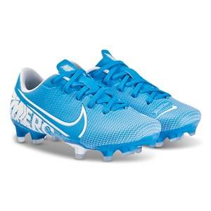 NIKE Vapor 13 Academy FG Soccer Shoes Blue Lasten kengt 38 (UK 5)