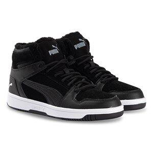 Puma Rebound Layup Fur Sneakers Black Lasten kengt 31 (UK 12)
