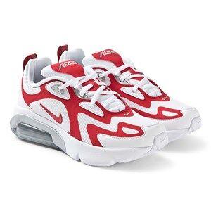NIKE Air Max 200 Sneakers White and University Red Lasten kengt 38 (UK 5)