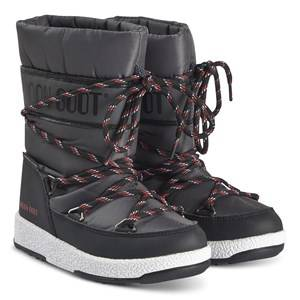 Moon Boot Sports WP Boots Black and Castlerock Snow boots