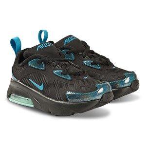 Image of NIKE Air Max 200 Kids Sneakers Black and Blue Hero Lasten kengt 30 (UK 12)