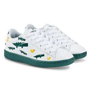 Lacoste Carnaby Sneakers White and Green Lasten kengt 33 (UK 1)