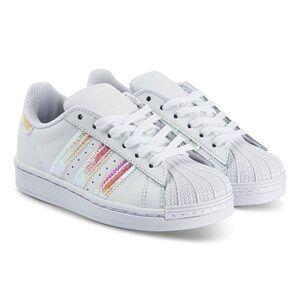 adidas Originals Superstar Sneakers White and Iridescent Lasten kengt 30 (UK 11.5)