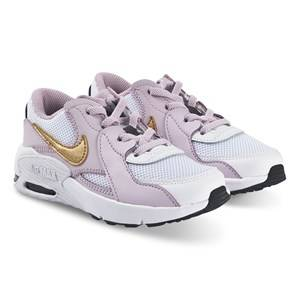 NIKE Air Max Excee Sneakers White and Iced Lilac Lasten kengt 35.5 (UK 3)