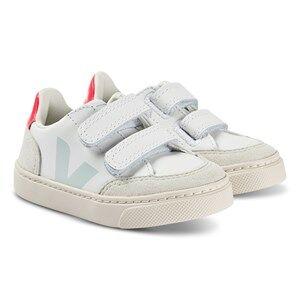 Veja V-12 Leather Sneakers Extra White and Menthol Lasten kengt 33 (UK 1)