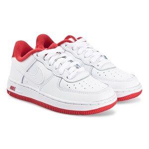NIKE Force 1 Sneakers White/University Red Lasten kengt 31.5 (UK 13)