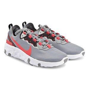 Image of NIKE Element 55 Kids Sneakers Particle Grey/Track Red Lasten kengt 33 (UK 1)