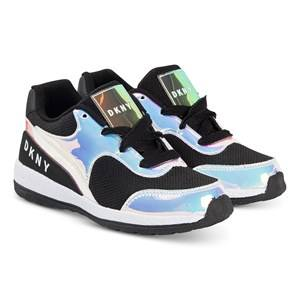 DKNY Iridescent Logo Sneakers Black Lasten kengt 31 (UK 12.5)