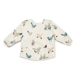 Elodie Long Sleeve Baby Bib - Feathered Friends Aprons, bibs and smocks