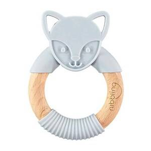 Nibbling Fox Forest Friend Natural Teething Toy Grey Baby teethers