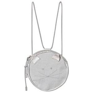 Easy Peasy Grey Round Cat Face Convertible Backpack Backpacks