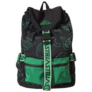Stella McCartney Kids Dude Hands Backpack Black/Green Backpacks