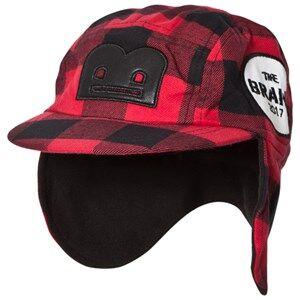The BRAND Flannel B-Moji Winter Cap Red Check Baseball caps
