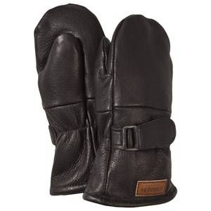 Image of Lindberg Classic Mitten Wool Black Wool gloves and mittens
