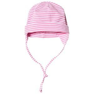 Maximo Baby Hat with Earflaps Pink and White Beanies