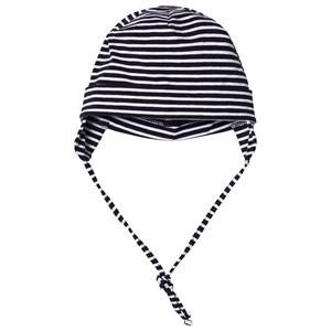 Maximo Baby Hat with Earflaps Navy and White Beanies