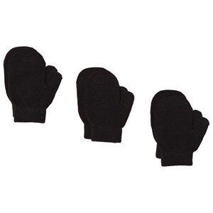 Image of Lindberg sbro Mittens 3-pack Black Wool gloves and mittens