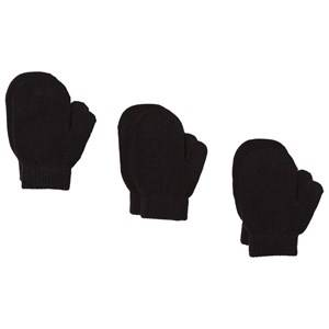 Image of Lindberg sbro Mittens 3-pack Black Wool gloves and mittens