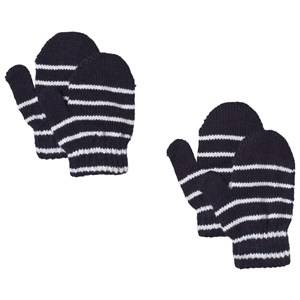 Lindberg 2-Pack Magic Stripe Wool Mittens Navy Wool gloves and mittens