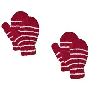 Lindberg 2-Pack Magic Stripe Wool Mittens Red Wool gloves and mittens