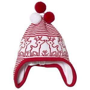 Kissy Kissy Red Reindeer Baby Hat Beanies