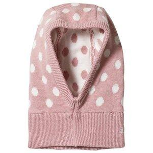 Image of Petit Bateau Baby Balaclava Pink/Off-White Balaclavas