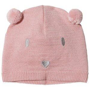 Image of Petit Bateau Baby Bear Beanie Pink Beanies