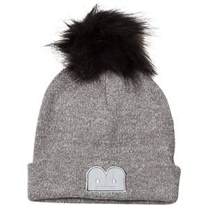 Image of The BRAND Knitted Pom-Pom Beanie Grey/Black Beanies
