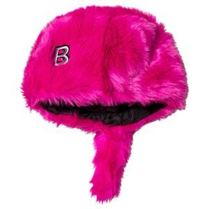 The BRAND Faux Fur Hat with Tail Pink Beanies
