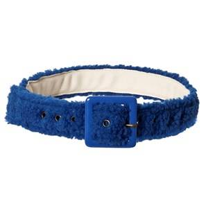 Bobo Choses Faux Shearling Belt Nautical Blue Canvas and fabric belts