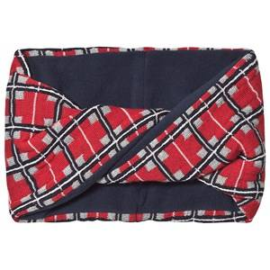 Image of Petit Bateau Knot Snood Check Red Snoods