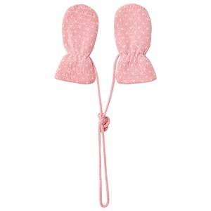 Image of Petit Bateau Knitted Mittens Pink Wool gloves and mittens