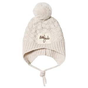 Little Jalo Knitted Baby Hat Cream Beanies