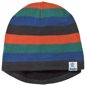 Bergans Frost Beanie Solid Charcoal and Bright Magma Beanies