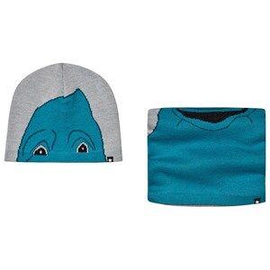 Molo Kleo Hat and Snood Set Grey Melange Beanies