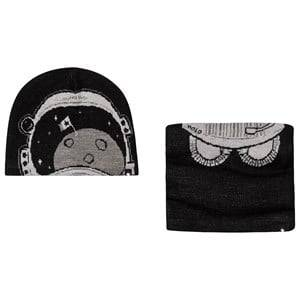Image of Molo Kleo Hat and Snood Set Very Black Beanies