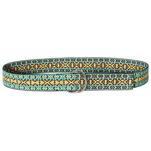 Velveteen Jacquard Belt Blue Canvas and fabric belts